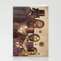 chris brown Stationery Cards featuring Victorian Wars  by Terry Fan