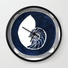 Seaside Specimen No.1 nautilus Wall Clock