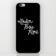 London, Paris, Rome v2 iPhone & iPod Skin