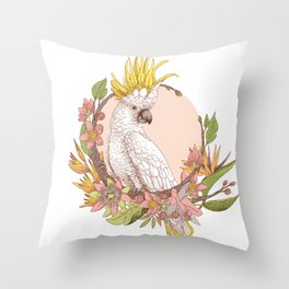 cacatoes Throw Pillow