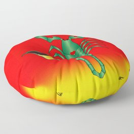 Poisoned heart Floor Pillow