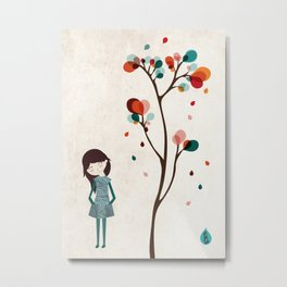 Tree of petals Metal Print