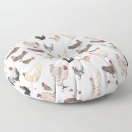 Chicken Happy (white) Floor Pillow
