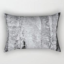 Icicles, No. 2 bw Rectangular Pillow