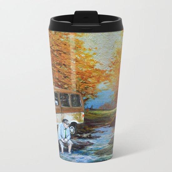 Living in a Van, Down by the River Metal Travel Mug