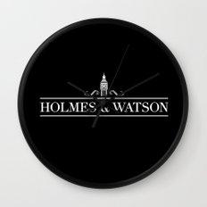Holmes & Watson Wall Clock