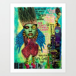 """Big Girl Pants"" Original Journal Art by Peri Allen Art Print"