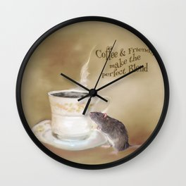 Coffee and Friends make the perfect Blend Wall Clock