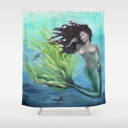 Calypso Nude Mermaid Underwater Shower Curtain