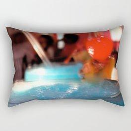 Blue Red Cereza Rectangular Pillow