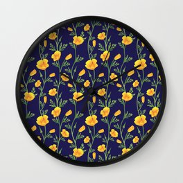 California Gold Rush (Poppies) Wall Clock