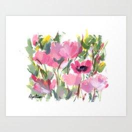 Pink Poppy Graphic Art Print
