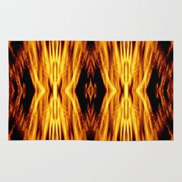 Flame Pattern Fire Astract Rug