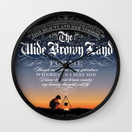 Wide Brown Land #A07 Wall Clock