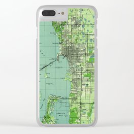 Vintage map of Sarasota Florida (1944) Clear iPhone Case