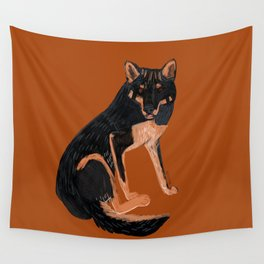 Black dingo (c) 2017 Wall Tapestry