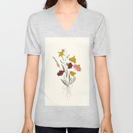Wildflowers Bouquet Unisex V-Neck