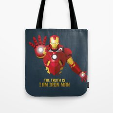 The Truth Is, I Am Iron Man Tote Bag