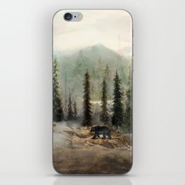 Mountain Black Bear iPhone Skin