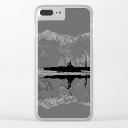 Knik River Mts. Pop Art - 3 Clear iPhone Case