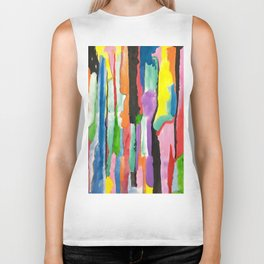 Colours Abstract Biker Tank