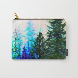 SCENIC BLUE MOUNTAIN GREEN PINE FOREST Carry-All Pouch