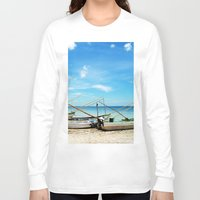 boats Long Sleeve T-shirts featuring boats by Baptiste Riethmann
