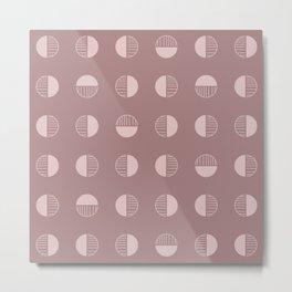 Retro Boho Geometric - Rose Dust Metal Print