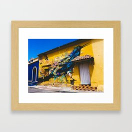 Street Art in Getsemani, Cartagena, Colombia Framed Art Print