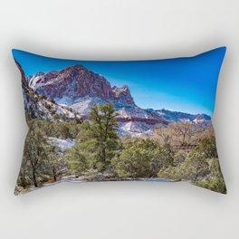 The_Watchman - Winter in Zion_National_Park, UT Rectangular Pillow