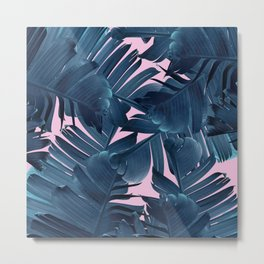 New Blue Banana Metal Print