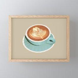 Coffee with Latte Art Polygon Art Framed Mini Art Print