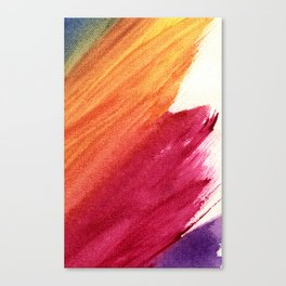 Blue/Red/Orange/Purple Brush Stroke Canvas Stripe Art Canvas Print