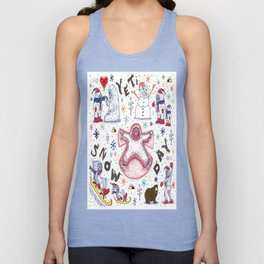 Yeti Snow Day Unisex Tank Top