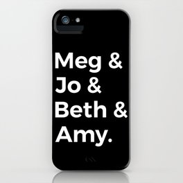 Little Women Characters I iPhone Case