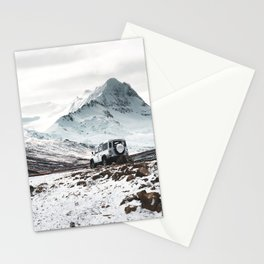 on the road in iceland Stationery Cards
