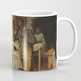 A Pastoral Visit, by Richard Norris Brooke, 1881 . An African American family Coffee Mug