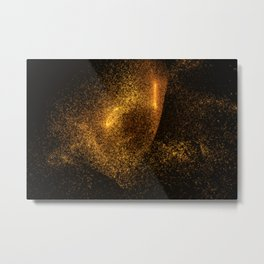 Abstract orange glowing particles Metal Print