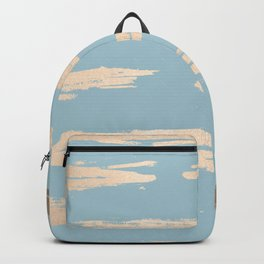 Abstract Paint Stripes Gold Tropical Ocean Sea Blue Backpack
