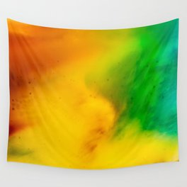 The Fall is Coming -  Abstract Ink and Resin Art Wall Tapestry