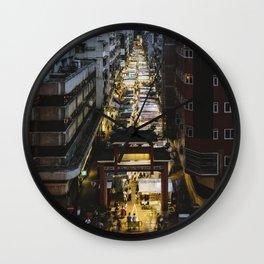 Hong Kong Night Market Wall Clock