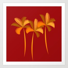Abstract Bright Lilies Art Print