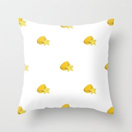 Star Fruit Drawing (Collage) Throw Pillow