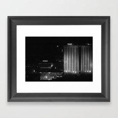 Black & White Night Framed Art Print