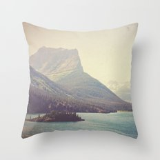 Retro Glacier Throw Pillow