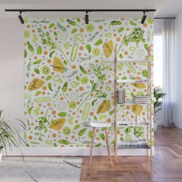 Fruits and vegetables pattern (20) Wall Mural