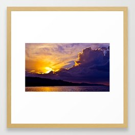 Jamaican Sunset Framed Art Print