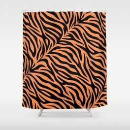 Modern abstract tiger skin illustration pattern Shower Curtain