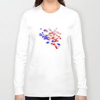 patriotic Long Sleeve T-shirts featuring patriotic jigsaw by Albin0