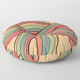 Rolling Waves Of Peachy Panic Floor Pillow